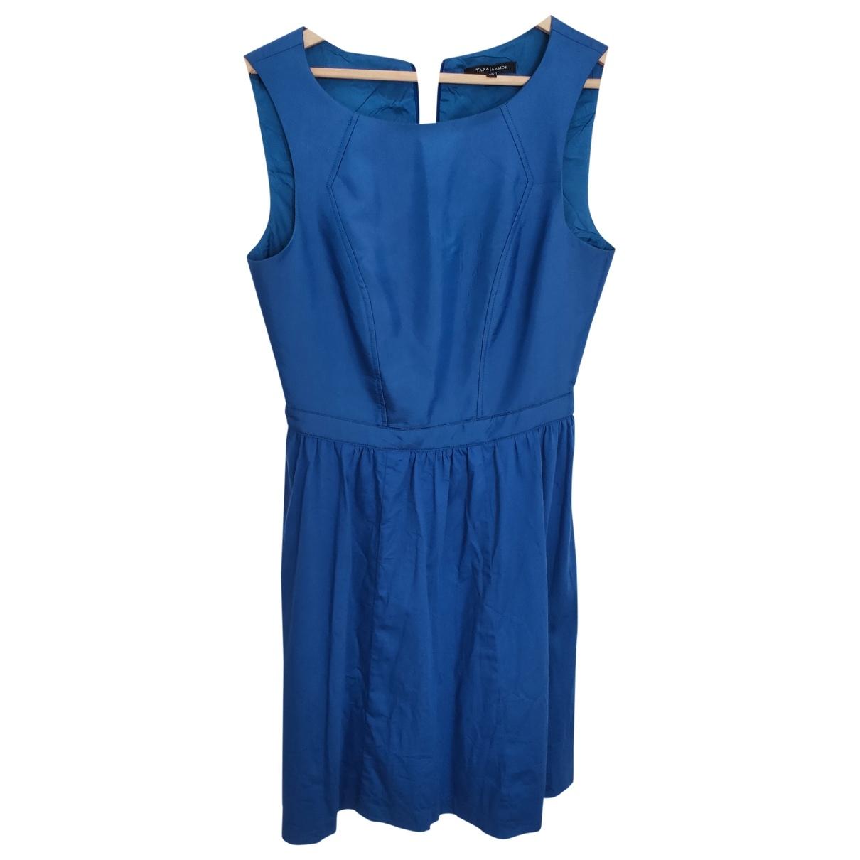 Tara Jarmon \N Blue Cotton dress for Women 40 FR