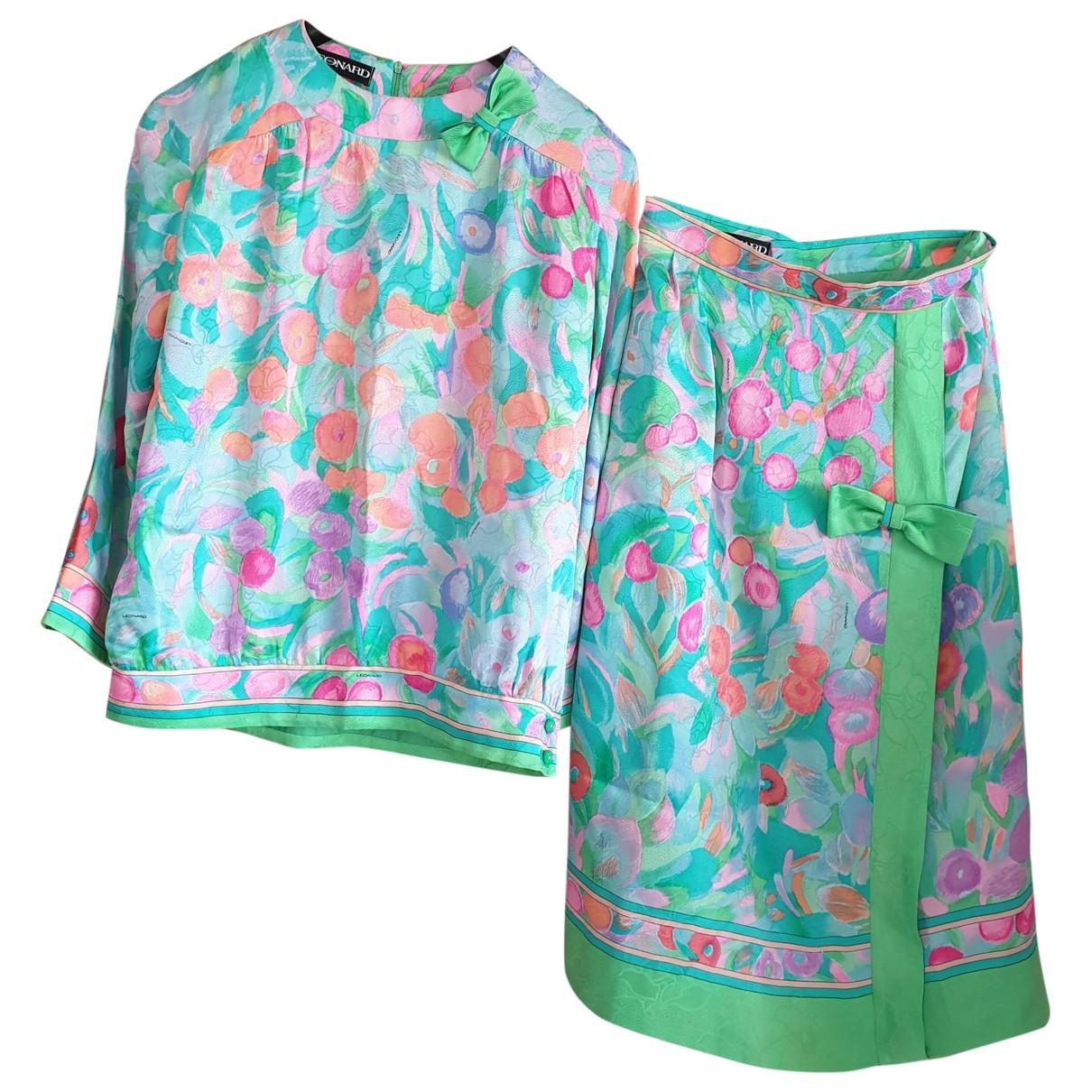 Leonard - Combinaison   pour femme en soie - multicolore