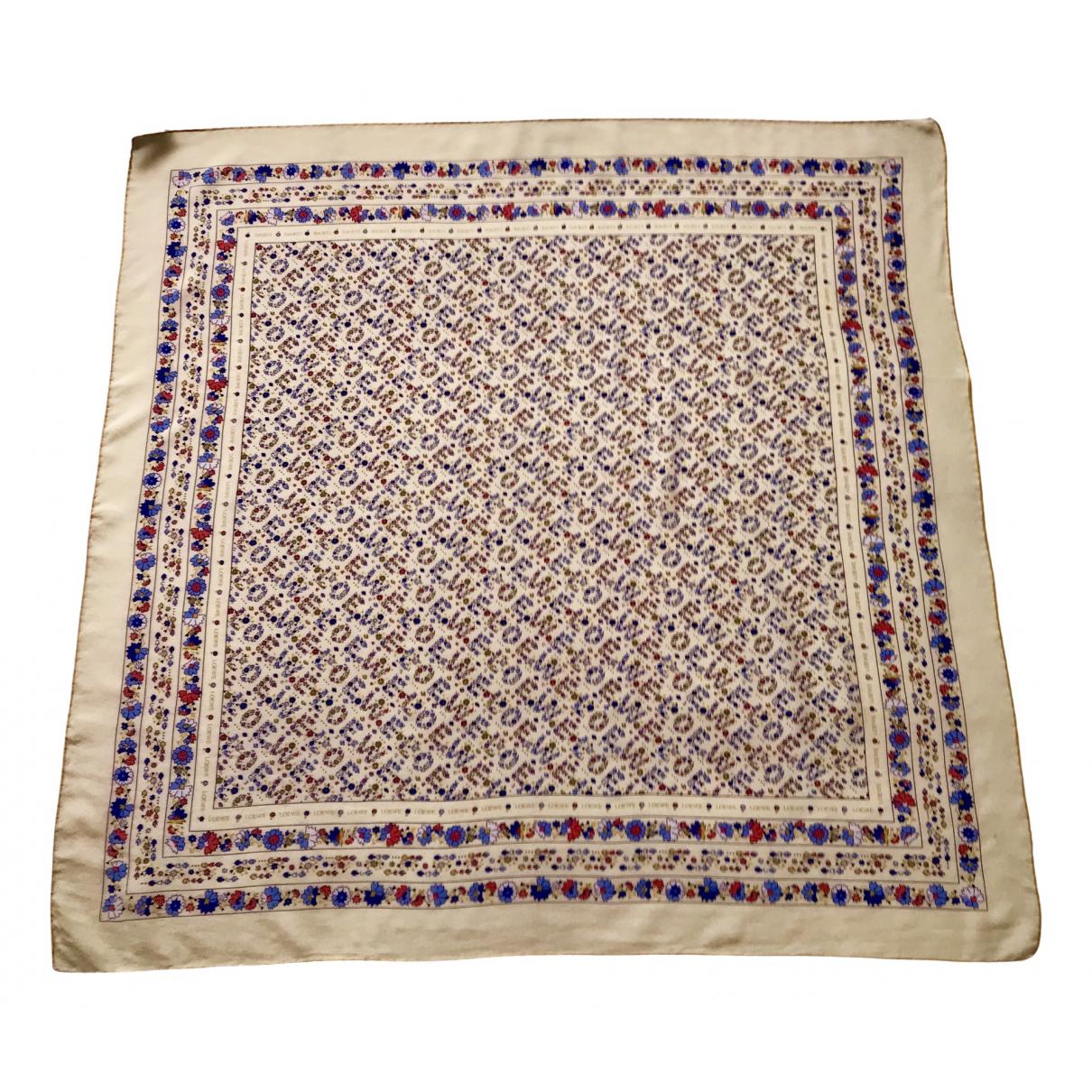 Loewe - Foulard   pour femme en soie - jaune