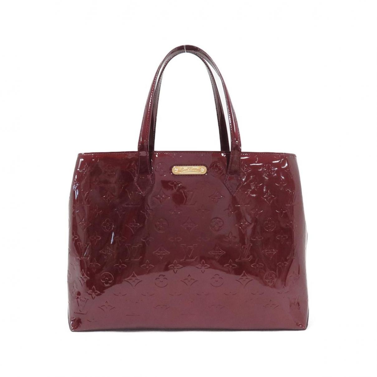 Louis Vuitton - Sac a main Wilshire pour femme en cuir verni - rouge