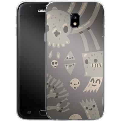 Samsung Galaxy J3 (2017) Silikon Handyhuelle - Cartoon Bones von caseable Designs