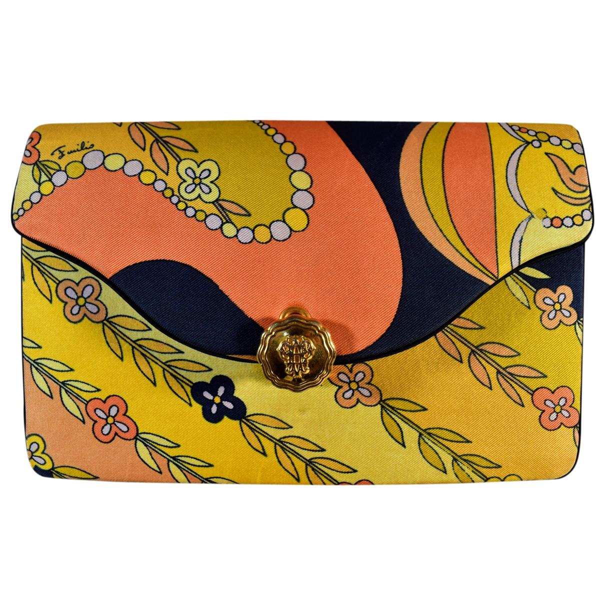 Emilio Pucci - Pochette   pour femme en soie - multicolore
