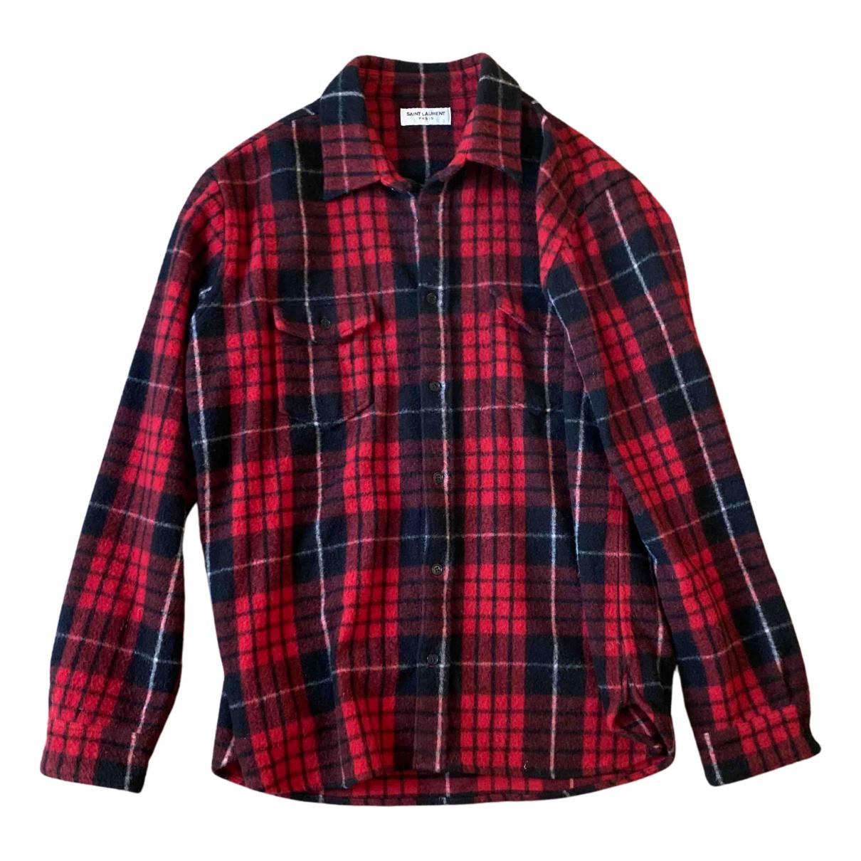 Yves Saint Laurent N Red Wool Shirts for Men L International