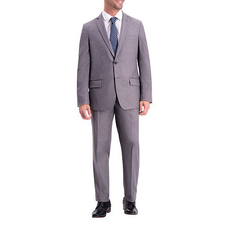 Haggar Mens Stretch Slim Fit Suit Jacket-Slim, 42 Regular, Gray