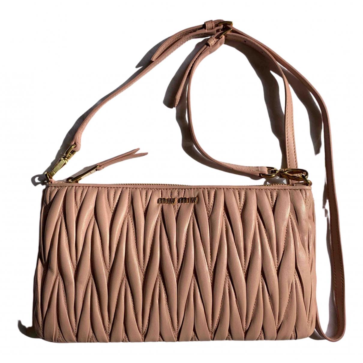 Miu Miu Matelassé Pink Leather Clutch bag for Women \N