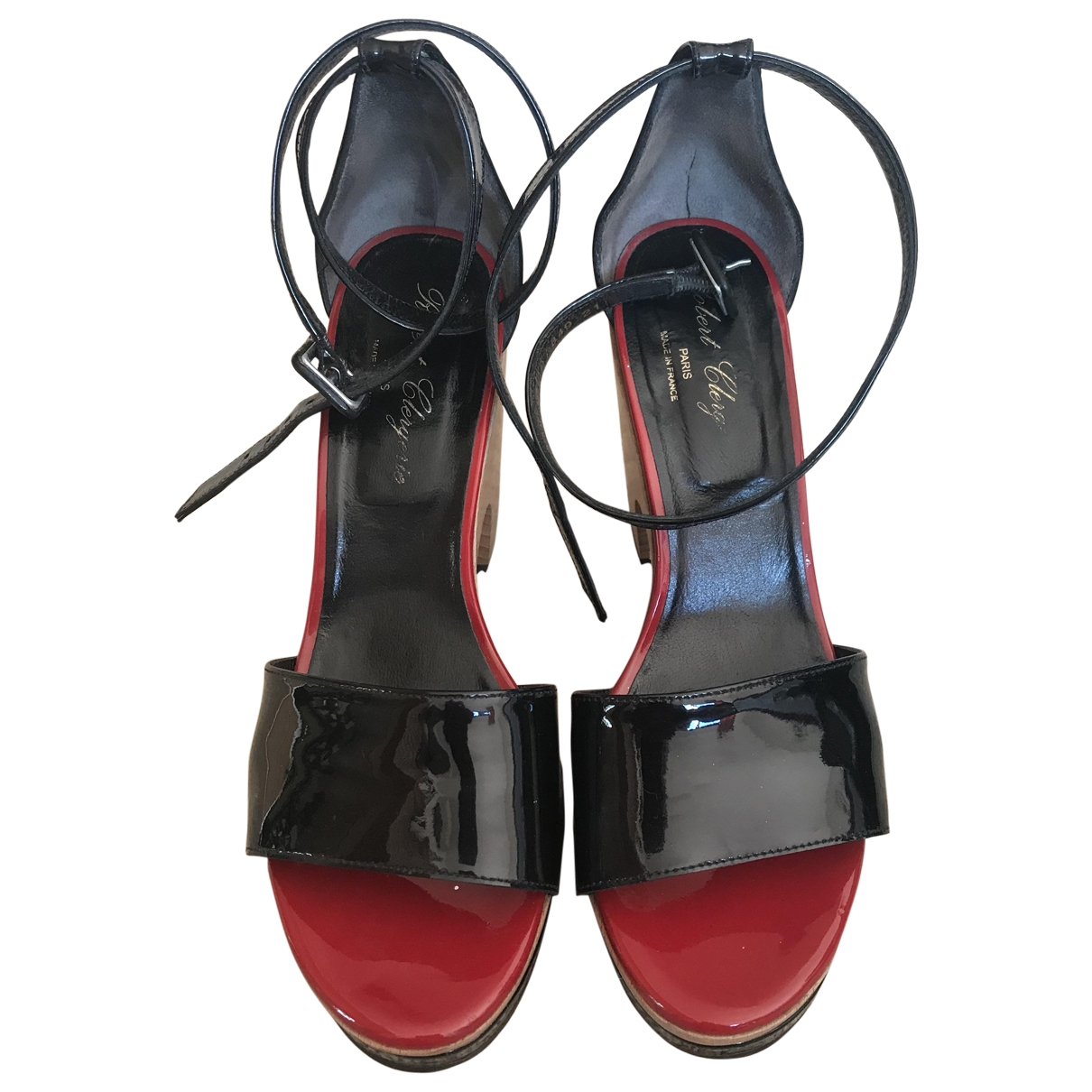 Robert Clergerie \N Black Patent leather Sandals for Women 38 EU