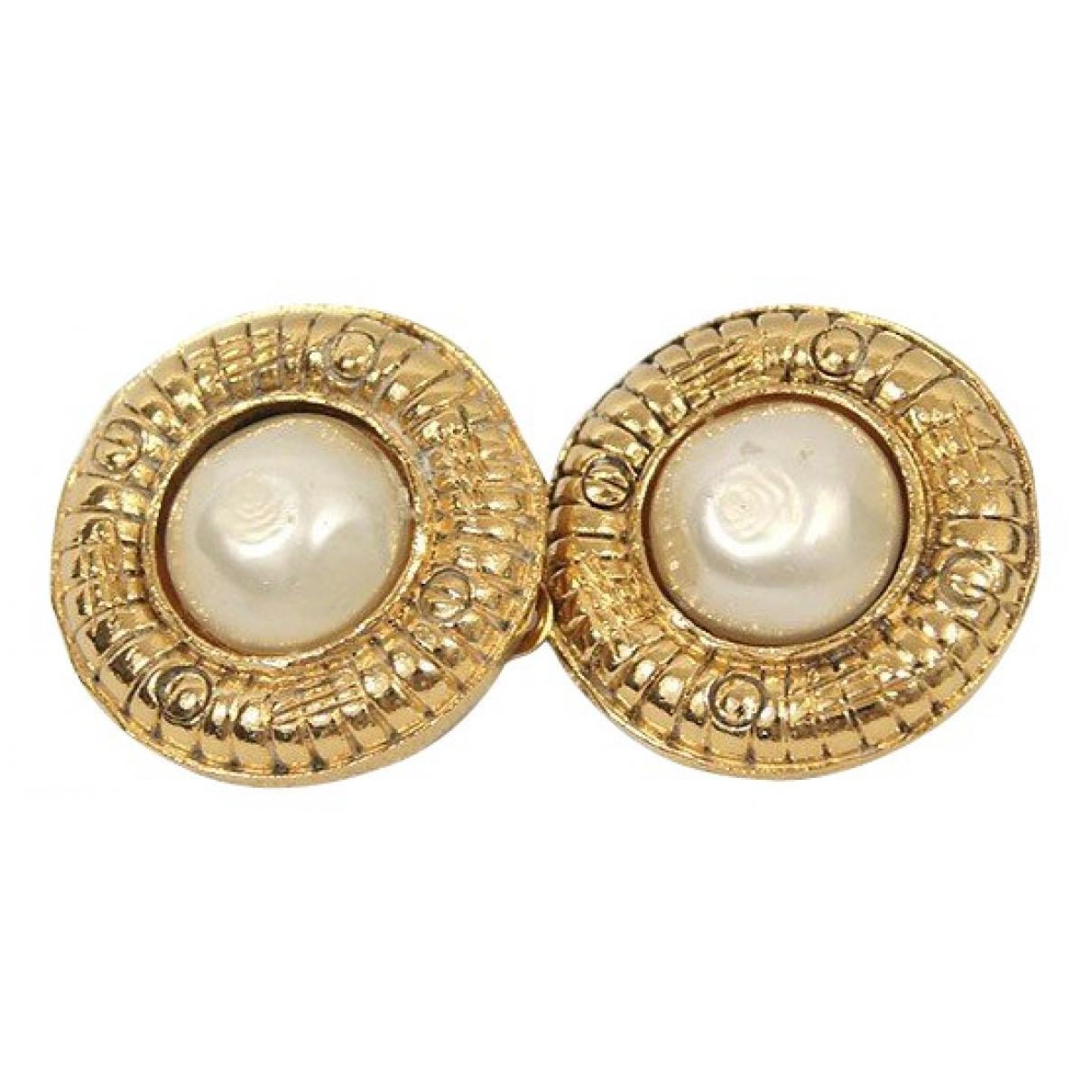 Chanel \N OhrRing in  Gold Leder