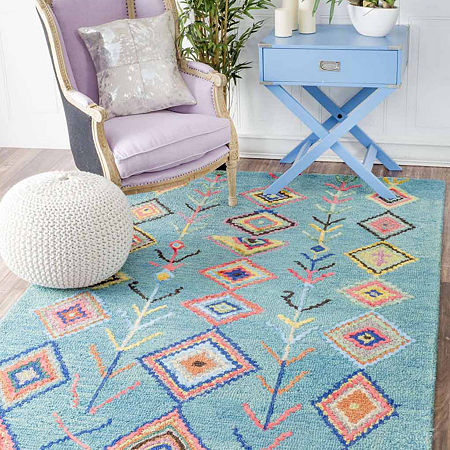 nuLoom Hand Tufted Belini Rug, One Size , Blue