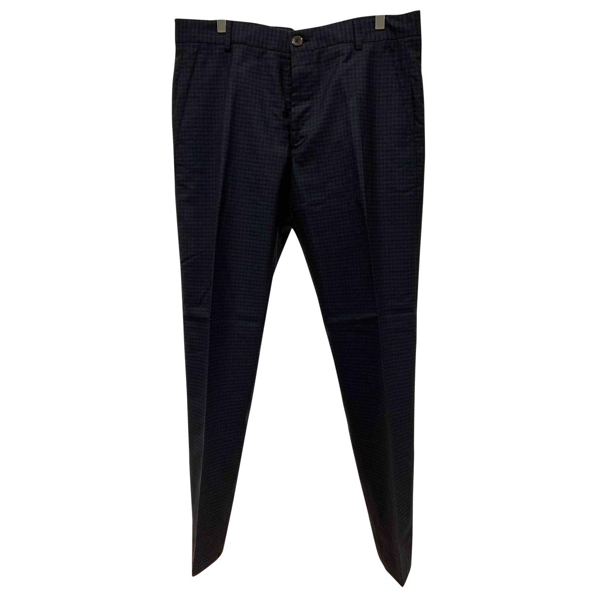 Vivienne Westwood \N Black Cotton Trousers for Men 50 IT