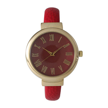 Olivia Pratt Unisex Red Strap Watch-515132, One Size , No Color Family
