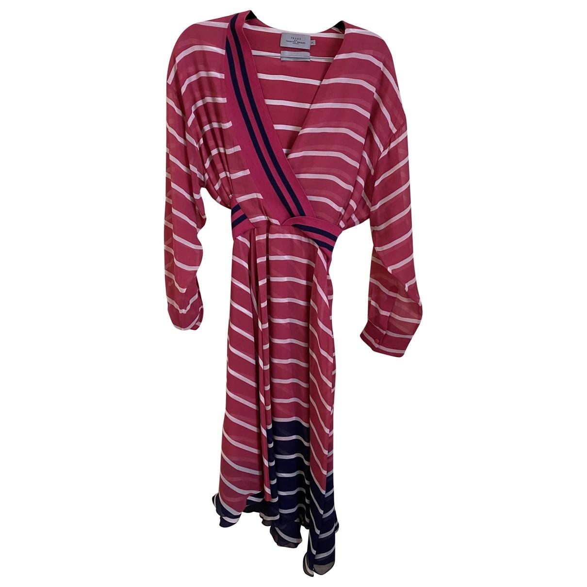 Preen By Thornton Bregazzi \N Kleid in  Rosa Polyester