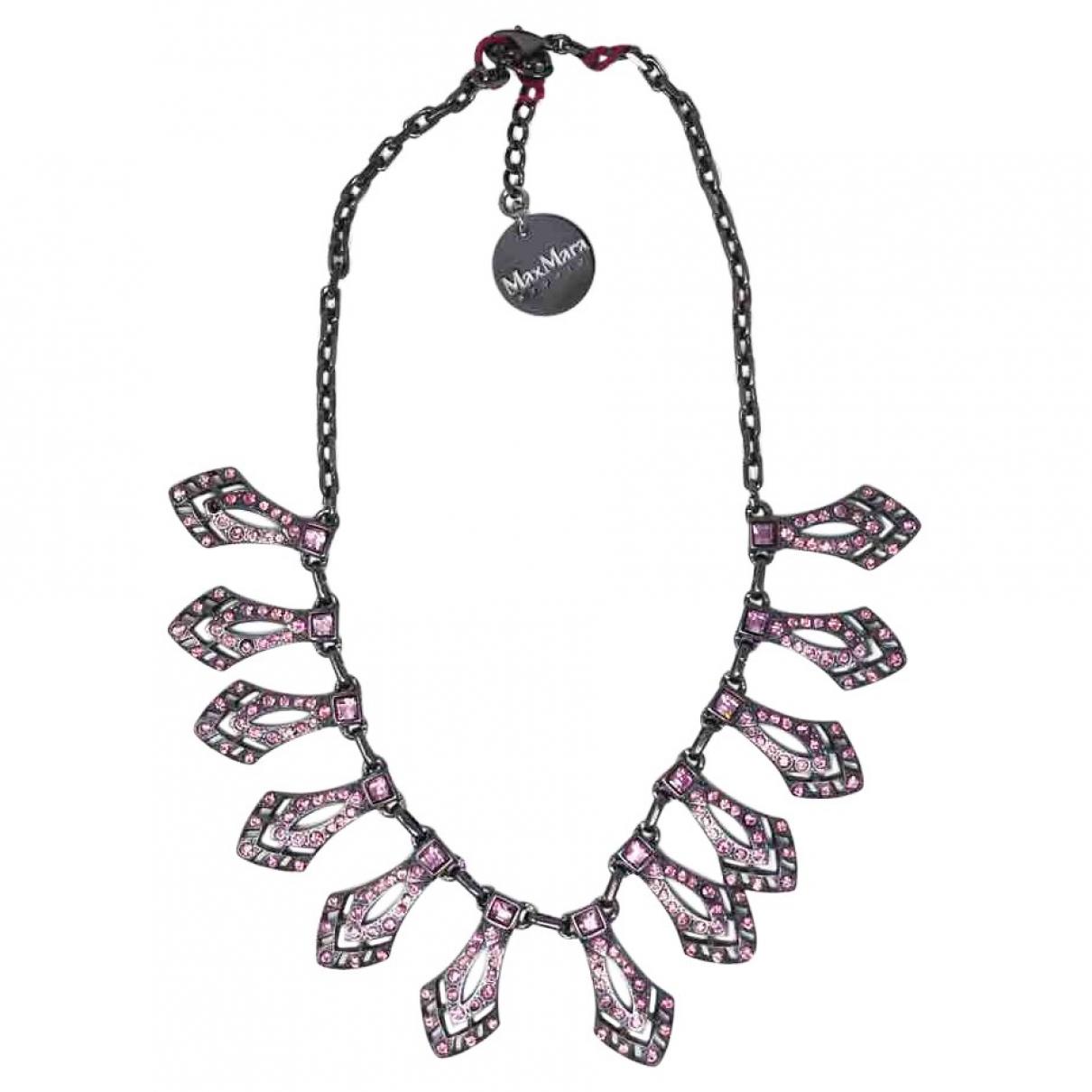 Max Mara Studio \N Black Metal necklace for Women \N