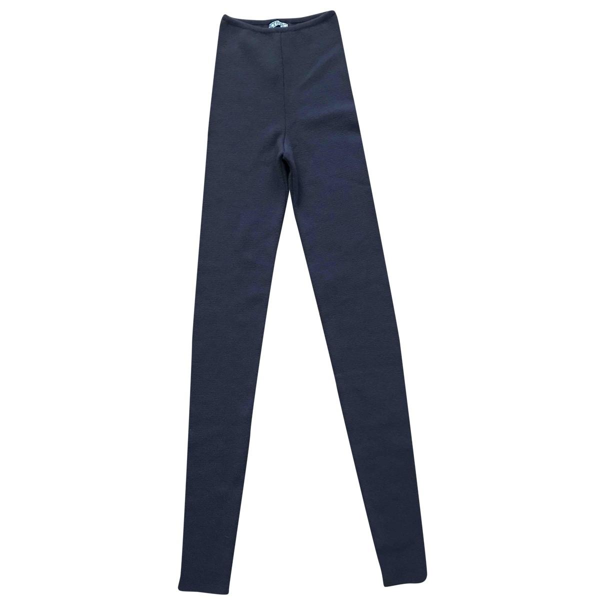 Iceberg \N Wool Trousers for Women 42 IT