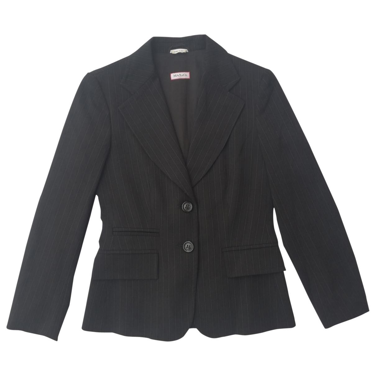 Max & Co \N Black Wool jacket for Women 36 IT