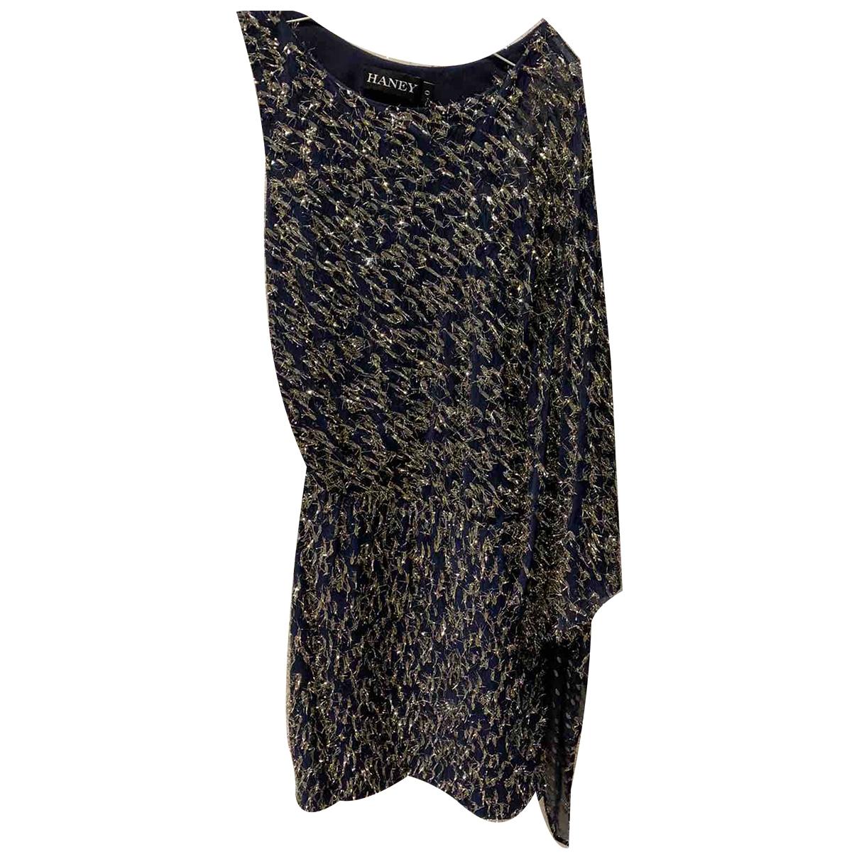 Haney \N Kleid in  Blau Viskose