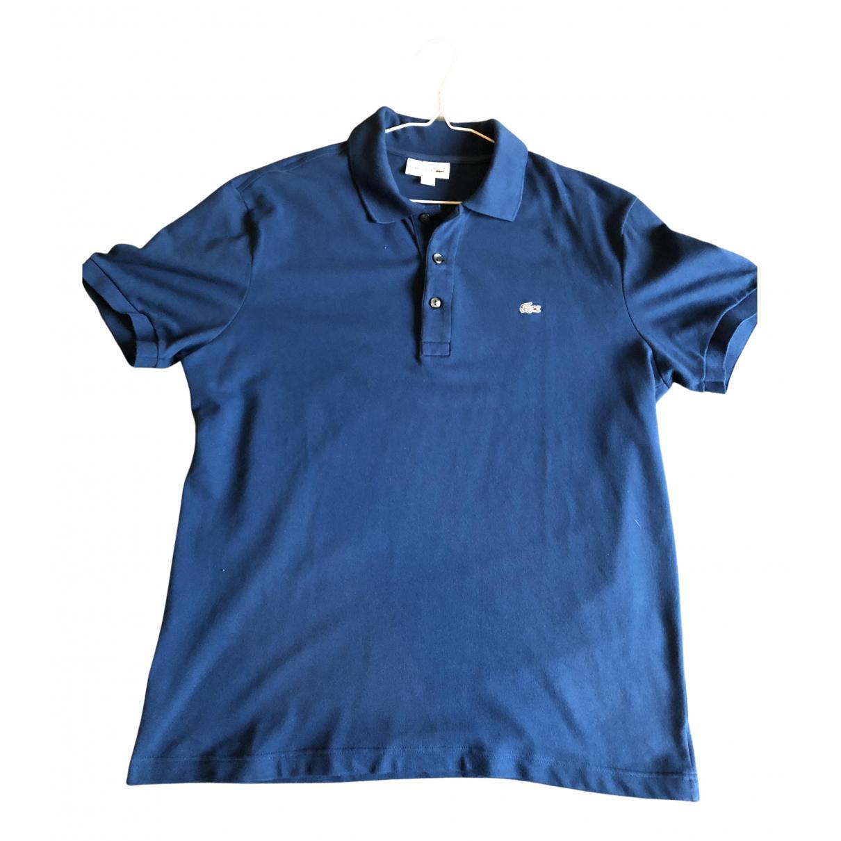 Polo en Algodon Azul Lacoste