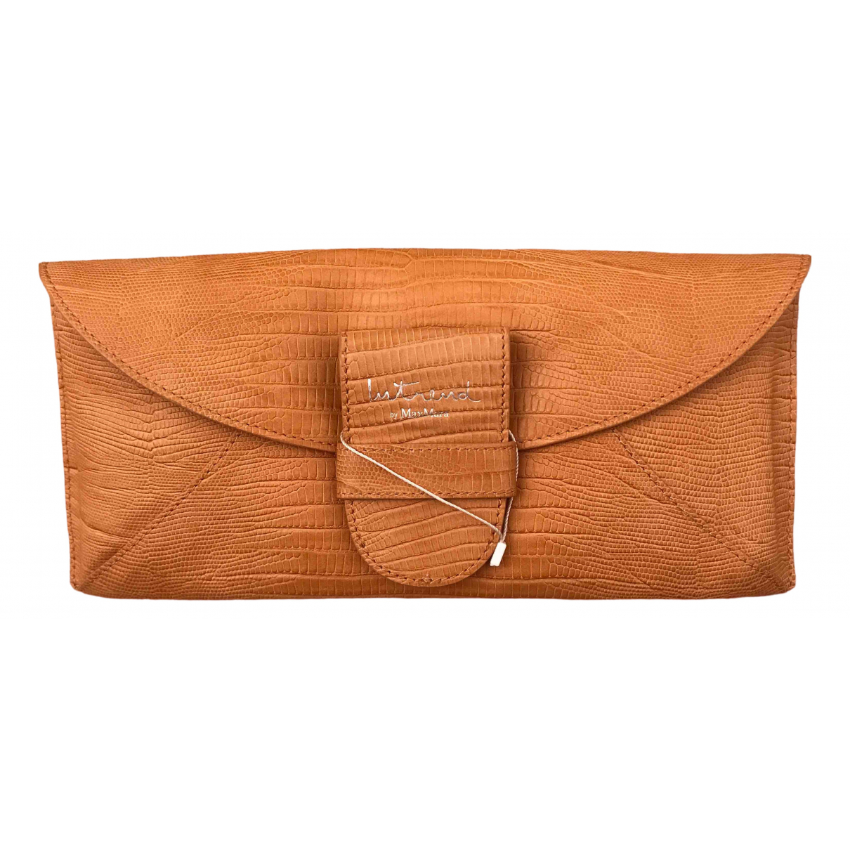 Intrend \N Camel Leather Clutch bag for Women \N