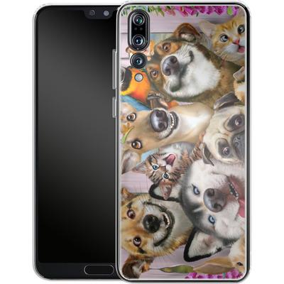 Huawei P20 Pro Silikon Handyhuelle - Pet Selfie von Howard Robinson