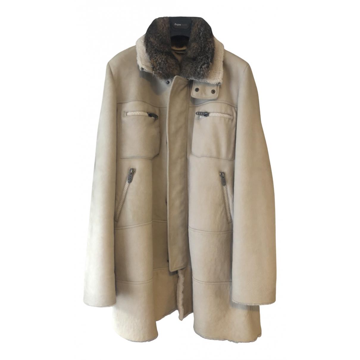 Ermanno Scervino - Manteau   pour homme en fourrure - beige