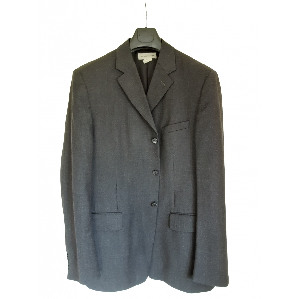 Dries Van Noten \N Anthracite Wool jacket  for Men 54 IT