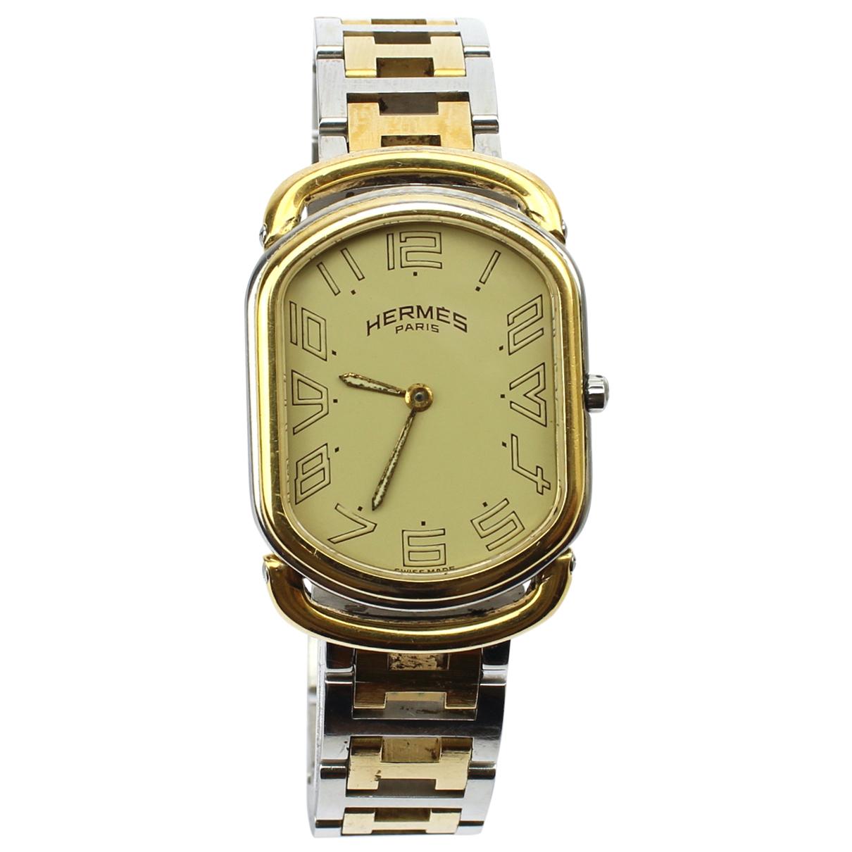 Hermès Rallye Gold Gold plated watch for Women N