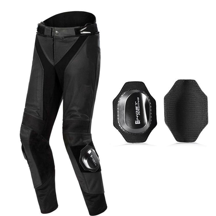 GHOST RACING Motorcycle Protective Knee Pad Professional Racing Pants Gear Slider Grinding Bag