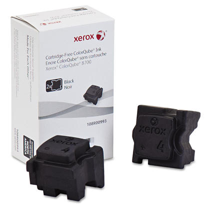 Xerox 108R00993 Original Black Solid Ink For ColorQube 8700 Printer - 2 Sticks/Pack