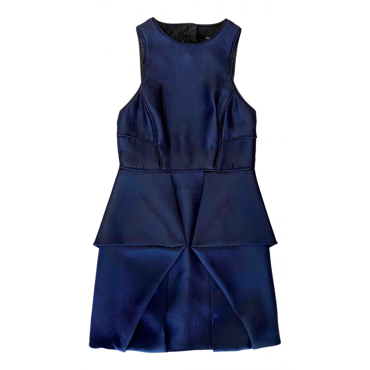 Tibi \N Kleid in  Marine Polyester