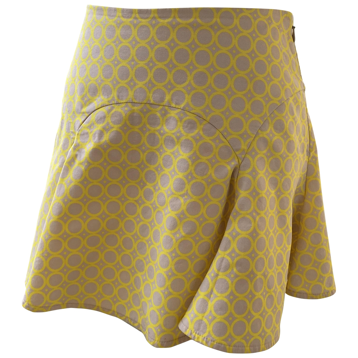 Patrizia Pepe \N Yellow Cotton skirt for Women 36 IT