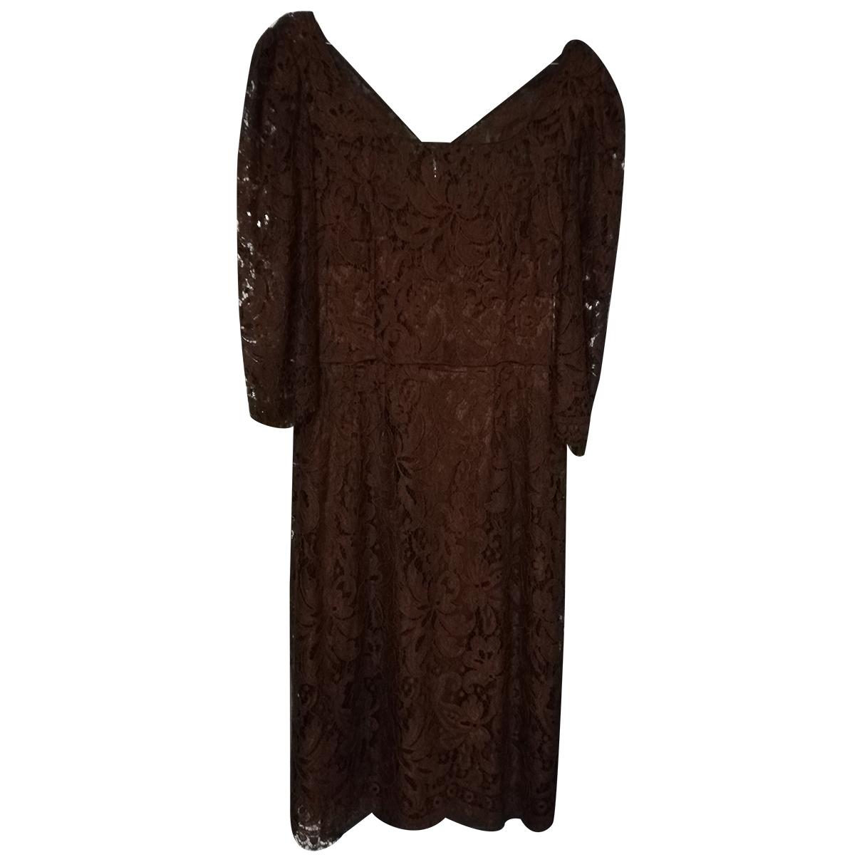 Dolce & Gabbana \N Kleid in  Braun Viskose