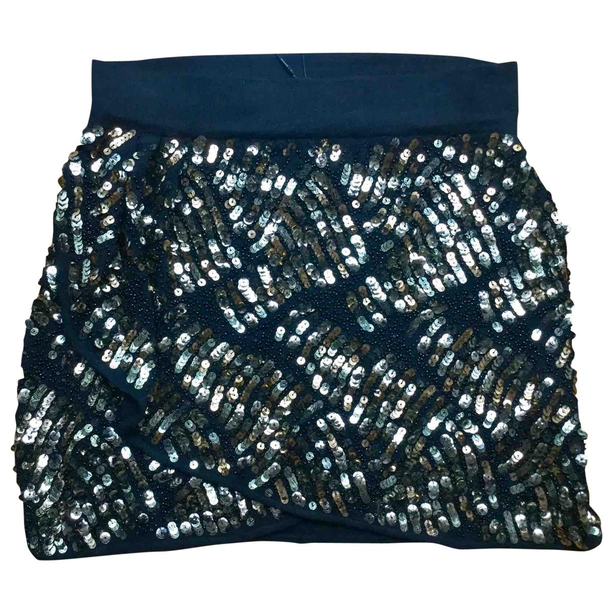 Mini falda de Con lentejuelas Zara