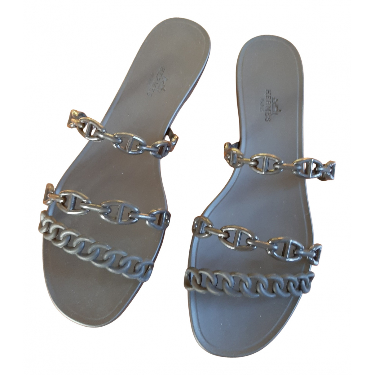 Hermès Rivage Black Rubber Sandals for Women 41 EU