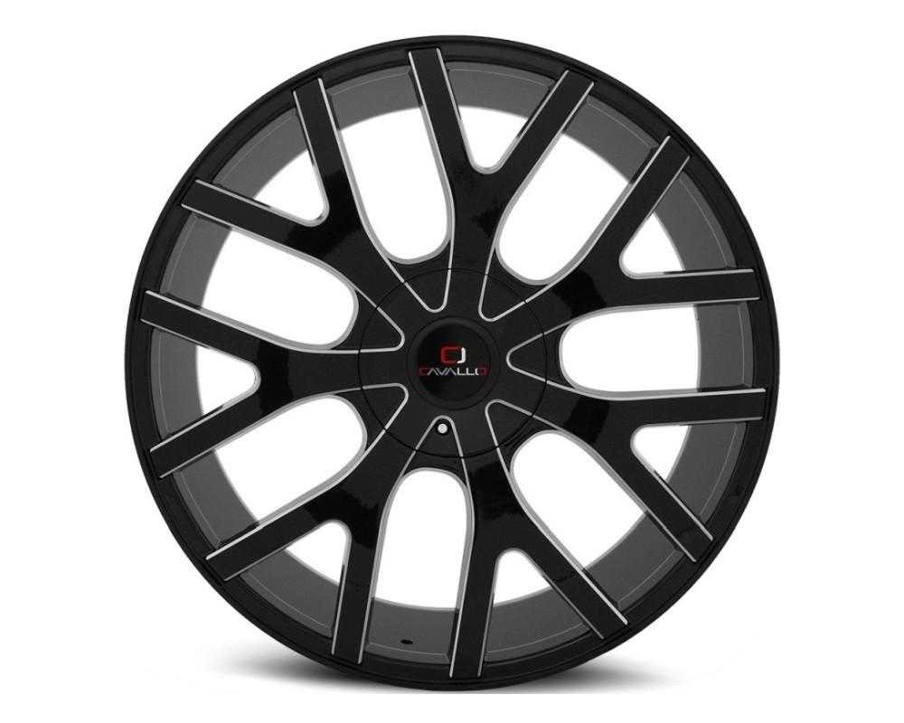 Cavallo CLV-15 Wheel 24x9 5x115|5x120 34mm Gloss Black Milled