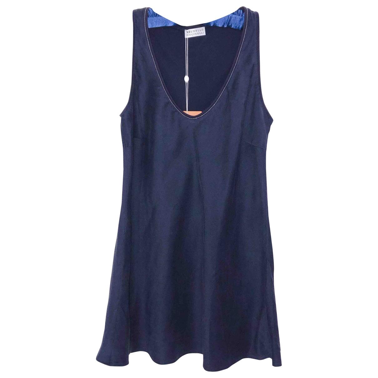 Brunello Cucinelli \N Navy Silk  top for Women S