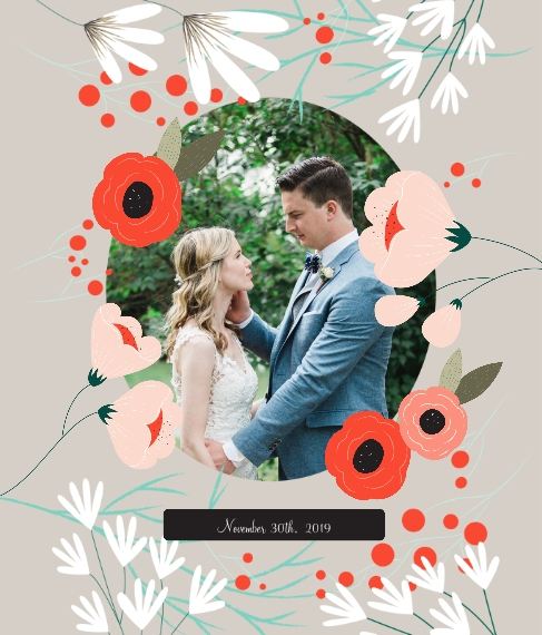 Wedding Canvas Print, 20x24, Home Décor -Wedding Bouquet