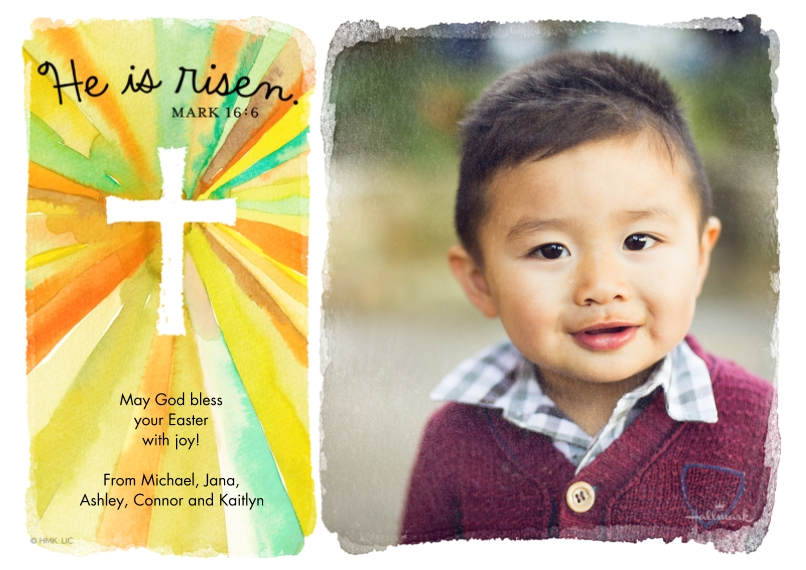 Easter Cards 5x7 Cards, Premium Cardstock 120lb with Rounded Corners, Card & Stationery -Radiant Cross
