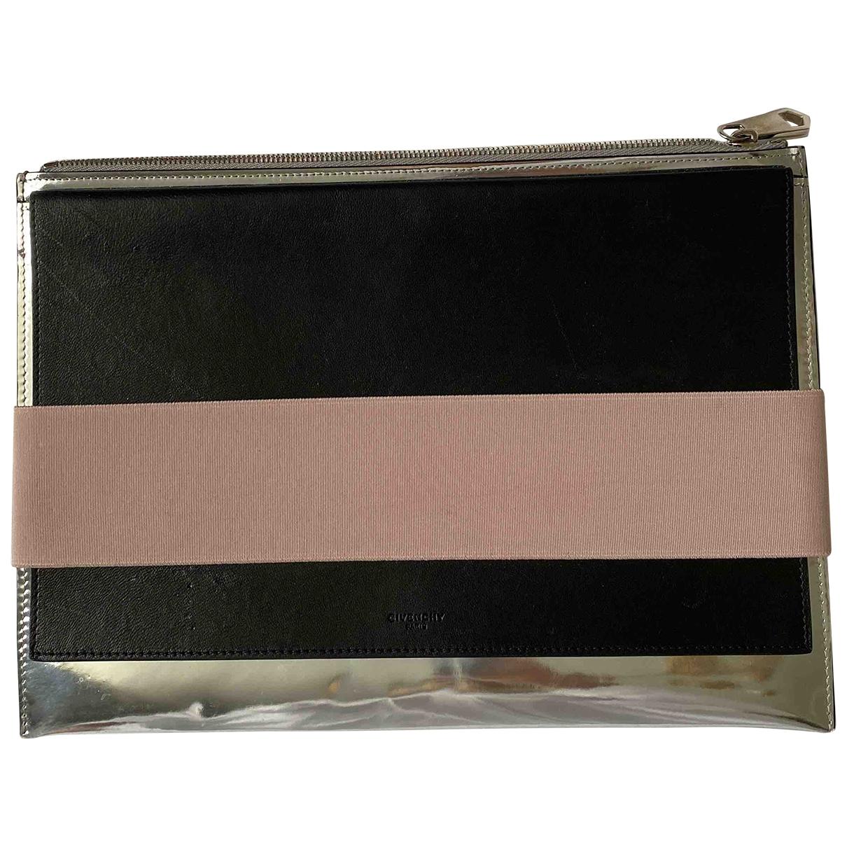 Givenchy - Pochette   pour femme en cuir verni - argente