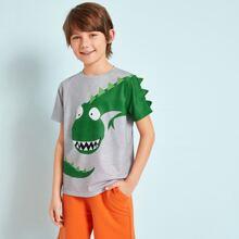 Jungen T-Shirt mit Dinosauier Muster