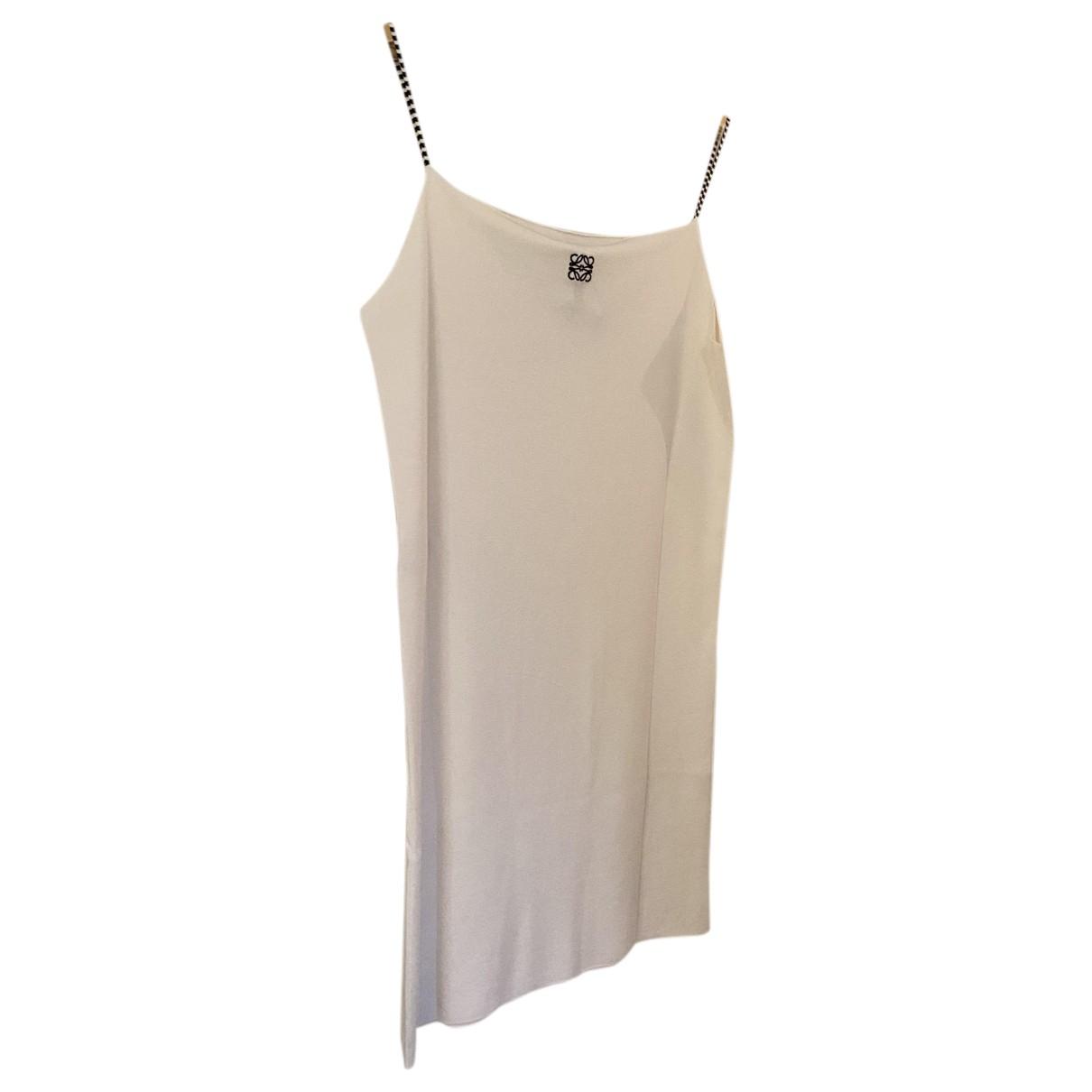 Loewe \N Kleid in  Weiss Seide