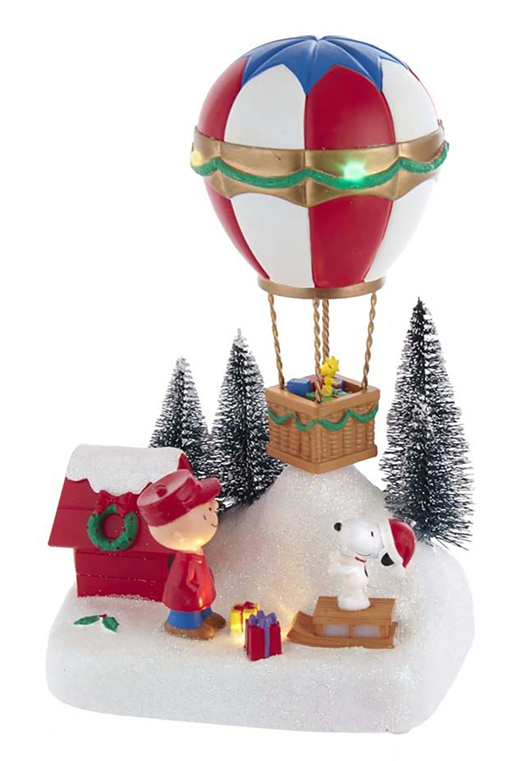 Kurt Adler Peanuts Animated Musical Hot Air Balloon Tablepiece