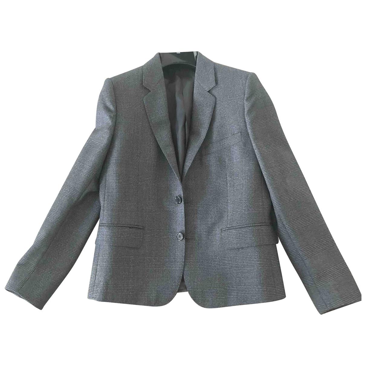 Celine - Veste   pour femme en laine - gris