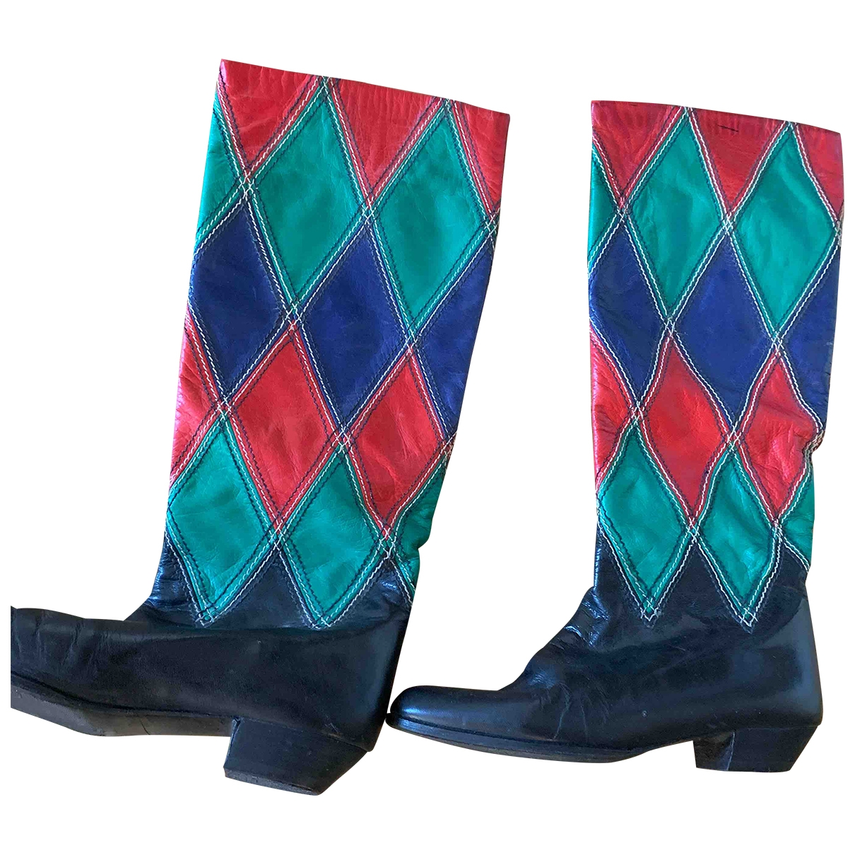 Andrea Pfister \N Multicolour Leather Boots for Women 37 EU