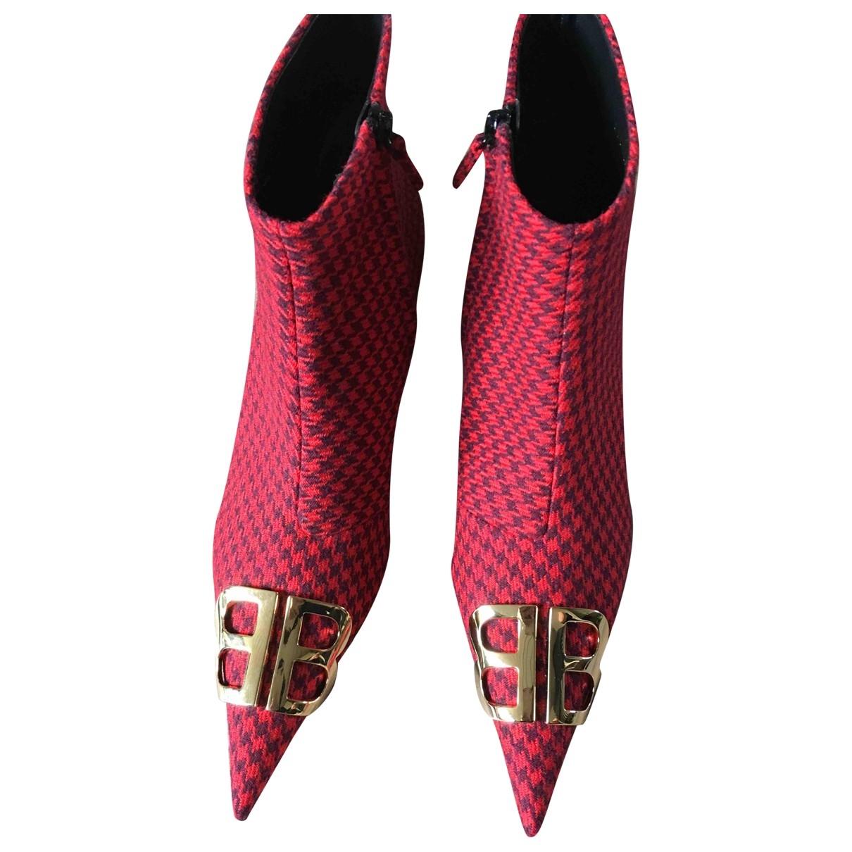 Balenciaga - Bottes BB pour femme en toile - rouge