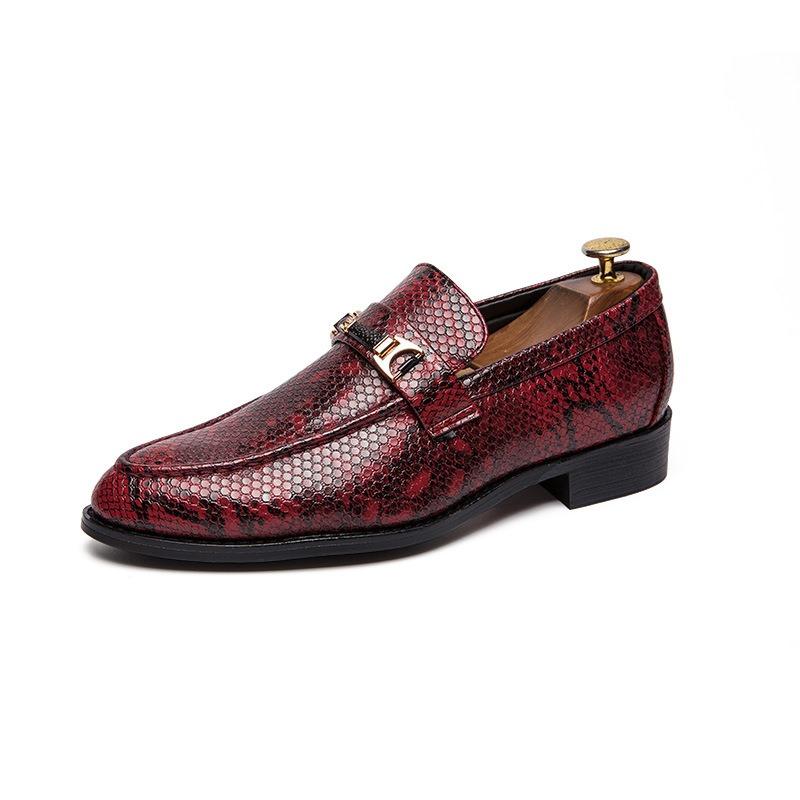 Ericdress PU Serpentine Round Toe Men's Shoes