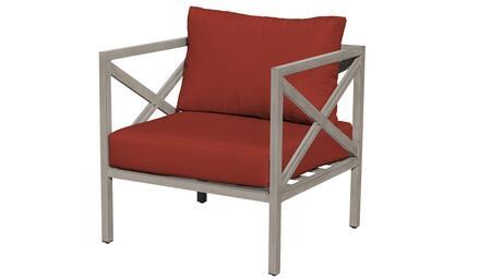 TKC065b-CC-TERRACOTTA Carlisle Club Chair - Beige and Terracotta