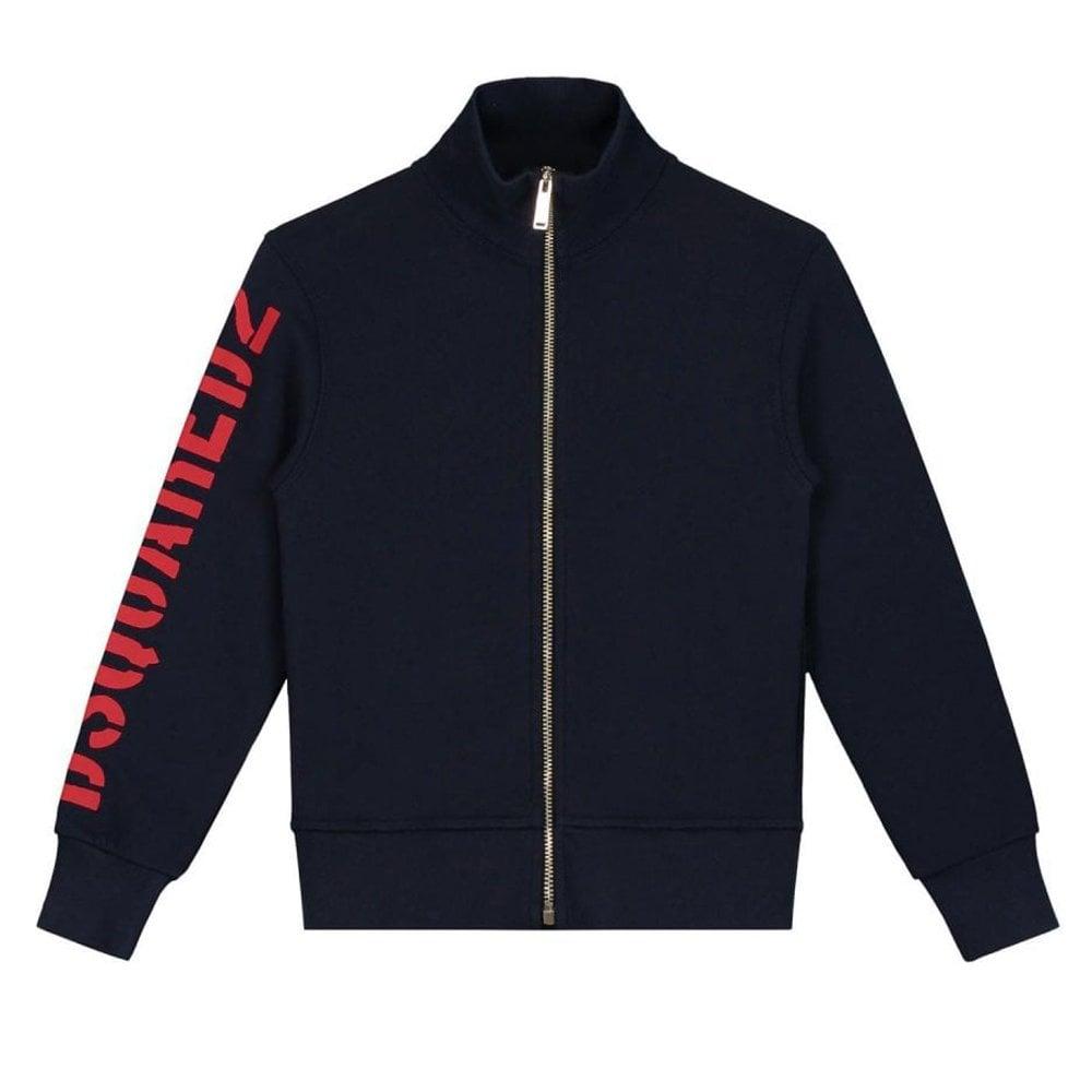 Dsquared2 Zip Sweatshirt Colour: NAVY, Size: 16 YEARS