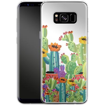 Samsung Galaxy S8 Silikon Handyhuelle - Cacti Land von Mukta Lata Barua