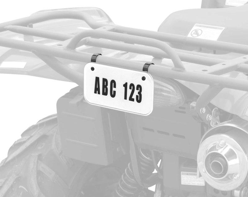 QuadBoss ATV License and Registration Kit - White