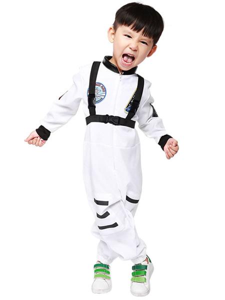 Milanoo Disfraz de niños Halloween Carnival Kids Orange Astronaut Cosplay Mono Poliester Conjunto Niños Disfraces de cosplay Disfraz Halloween