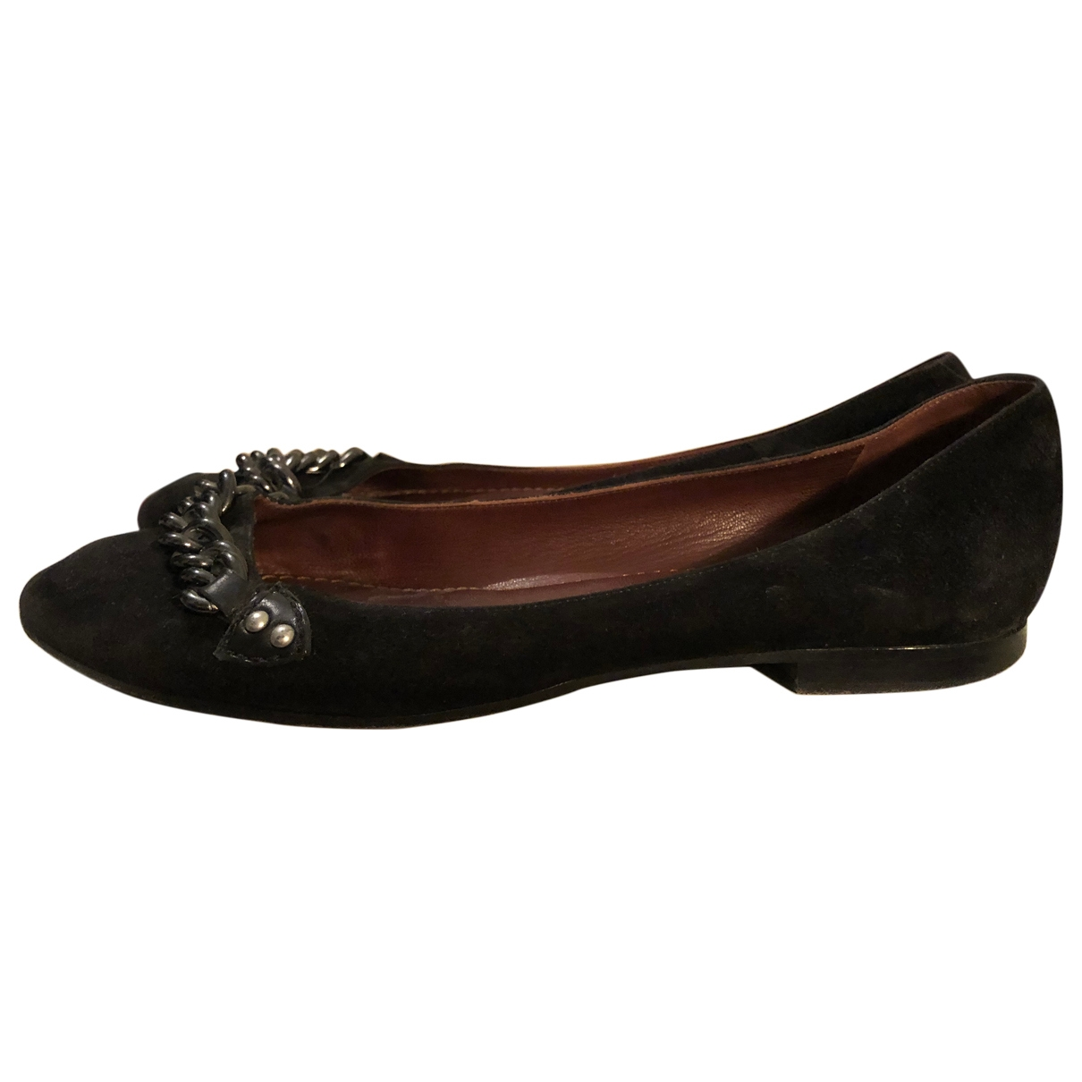 Marc Jacobs \N Black Suede Ballet flats for Women 36 EU